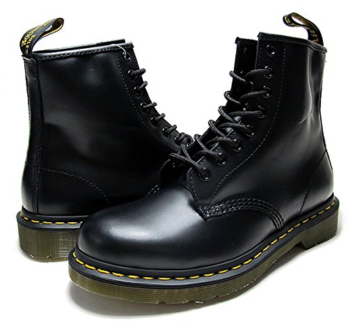 (ドクターマーチン) Dr.Martens R11822006 1460 8HOLE BOOT SMOOTH BLACK [並行輸入品]