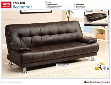 Beaumont Dark Brown Finish Futon Set
