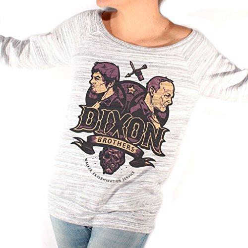Felpa Fashion WALKING DEAD DIXON BROTHERS LIMITED - FILM by Mush Dress Your Style - Donna-XL-Grigio marmorizzato