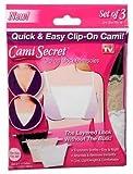 谷間 カバー 隠す チラ見え防止 キャミシークレット バスト ライン カバー Cami Secret 3色セット