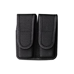 Bianchi Police Equipment - 7302 Double Mag Pouch Black Size 2-Staggered