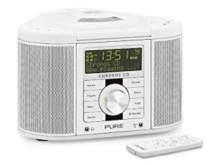 pure chronos cd series ii weiss radio alarm clock electronics. Black Bedroom Furniture Sets. Home Design Ideas