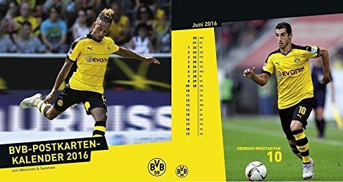 Borussia Dortmund Postkartenkalender Kalender Spiralkalender 2016