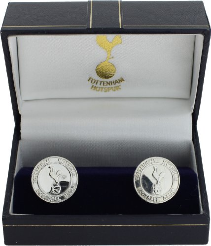 Silver Tottenham Hotspur FC Round Crest Cufflinks