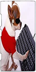 Snoogg Pet Chihuahua Contacting His Friends On The Internet Designer Protecti...
