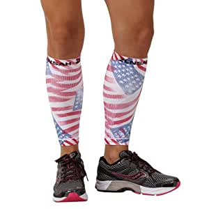 Zensah Compression Leg Sleeves, American Flag Print, X-Small/Small