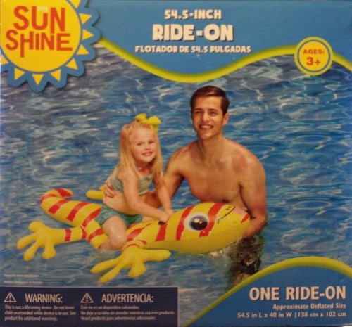 Sun Shine 54.5-Inch Ride On Float Gecko - 1