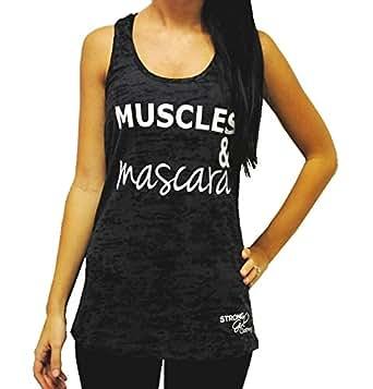 Amazon.com: Strong Girl Clothing Women's Muscles & Mascara ...