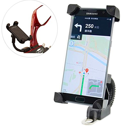 360? Supporto regolabile per Garmin GPS Supporto Orientabile universale per moto ATV Scooter ciclomotore Specchietto Retrovisore supporto per iPhone 6s/6/5s/4s/Ipod/GPS/MP4/Samsung S7/S6/Edge ecc.