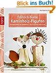 Fröhlich-bunte Kaminholz-Figuren: Dek...
