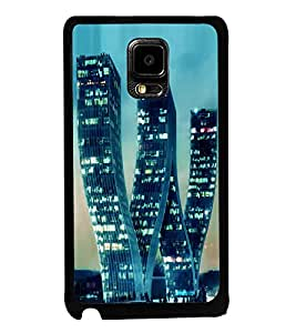 printtech W Shaped Building Back Case Cover for Samsung Galaxy Note i9220::Samsung Galaxy Note 1 N7000
