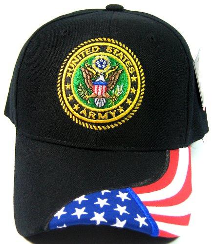 Fashion Licensed Us Army Military Caps - American Flag Brim