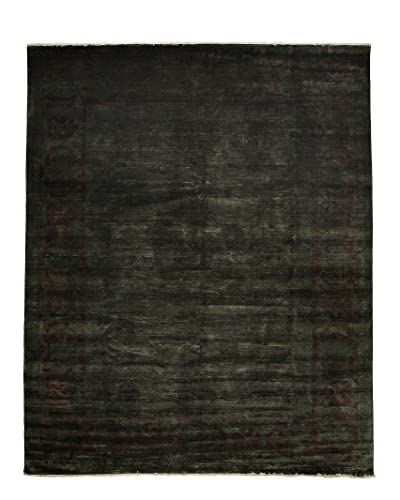 """Solo Rugs Overdyed Oriental Rug, Green, 11' 6"""" x 9' 2"""""""