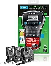 DYMO LabelMANAGER 160 - Etiquetadora (+ 3 casettes de etiqueta), color negro