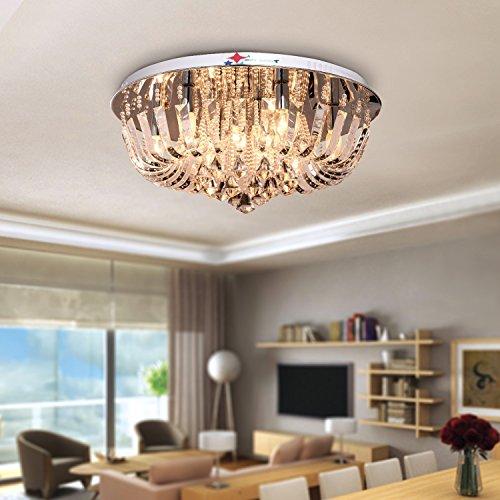 oofay light runde kristall celling lampe f r wohnzimmer. Black Bedroom Furniture Sets. Home Design Ideas