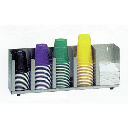 "Dispense-Rite 3 Section Adjustable Lid Organizer with Straw Cube 19 5/8""L x 5""D x 8""H"