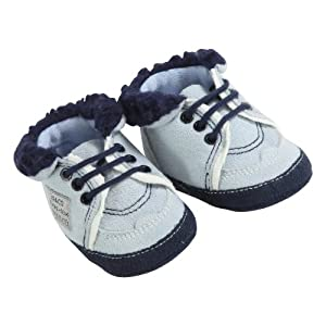 3Pommes Booties with 100 Percent Cotton Lining (Boys, Size 19/ 20, Nacre)