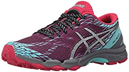ASICS Women\'s Gel-Fuji Lyte Running Shoe, Plum/Silver/Pool Blue, 9 M US