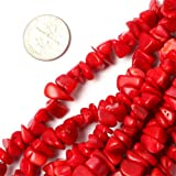 GEM-inside 7-8mm Red Coral Chips Beads Gemstone Gem Loose Beads Findings Accessories Strand 34 Inches