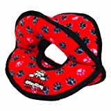 Tuffy Ultimates 4-Way Ring Dog Toy, Red Paws
