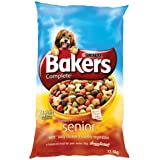 Bakers Complete Senior Tender Meaty Chunks with Tasty Chicken and Country Vegetables Dog Food 12.5 kg