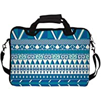 "Snoogg Aztec Pattern Triangular 14"" 14.5"" 14.6"" Inch Laptop Notebook SlipCase With Shoulder Strap Handle Sleeve..."