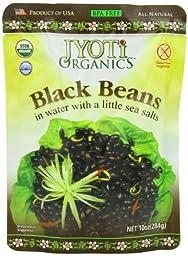 Jyoti Organic Black Beans, 10 Ounce (Pack of 6)