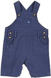 JoJo Maman Bebe Striped Dungarees (Baby)-Blue-12-18 Months