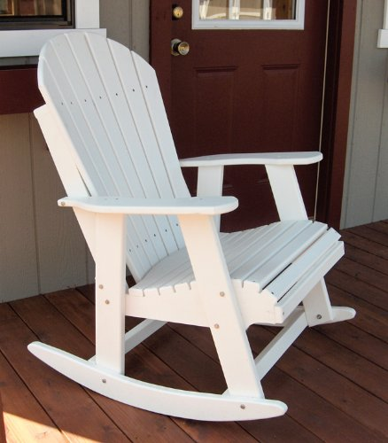 Forever Phat Tommy White Rocking Adirondack Chair