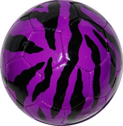 PURPLE ZEBRA Safari Sportz® Soccer Ball Size 4