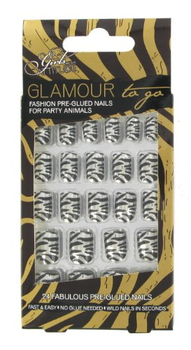 Girls with Attitude Glamour to Go Metallic Party Animals Pre-glued Nails