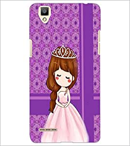 PrintDhaba Cute Doll D-2784 Back Case Cover for OPPO F1 (Multi-Coloured)