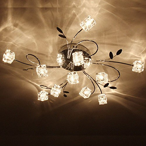 Lightinthebox Artistic Aluminum Ceiling Light Fixture Flush Mount Lights With 11 Lights, Bulb Included, Fit For Dining Room, Living Room, Kitchen