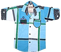 CAY 100% Cotton Blue Color Designer Checks shirt (Size:S)
