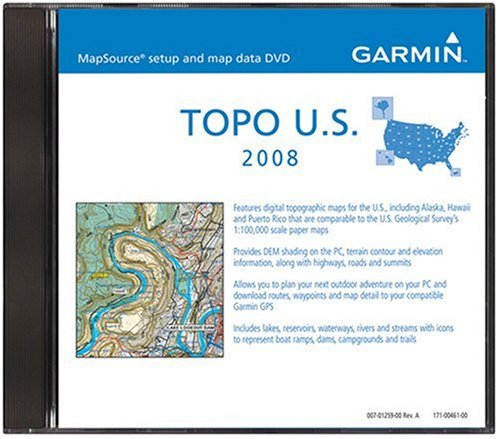 Garmin MapSource 2008 Topographical U.S. Map DVD-Rom