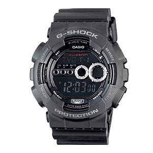 Casio GD100-1B g-shock black digital dial resin strap men watch