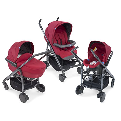 Chicco 79324 - Sistema modulare Trio Love Kit Auto - Colore Red