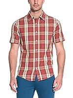 CMP Campagnolo Camisa Hombre 3U79947 (Rojo / Beige)