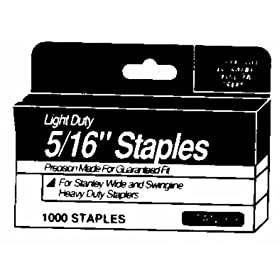 Stanley TRA204T 1/4-Inch Light Duty Staples, 1,000-Count