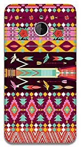 The Racoon Grip Pink Aztec hard plastic printed back case / cover for Microsoft Lumia 640 XL