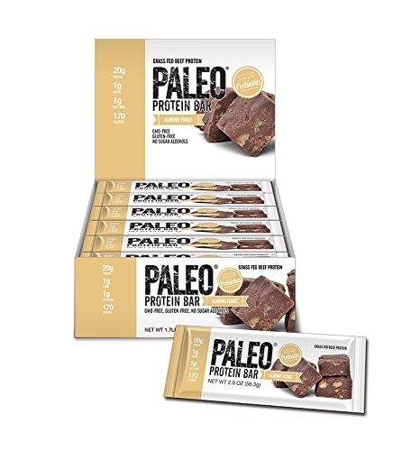 Paleo Protein Bars Almond Fudge 12 Bars (20g Protein) w/Prebiotics 1 Net Carb (Bakery Paleo Protein compare prices)