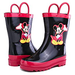 Disney Mickey Mouse Black Rain Boots (Toddler/Little Kid) (11 M US Toddler)