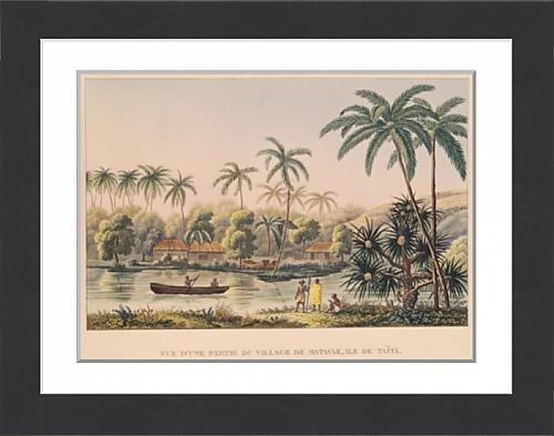 framed-print-of-village-of-matavae-tahiti-illustration-from-voyage-autour-du-monde-sur-la
