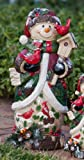 Berry & Pine, Snowman, tall Statuary,Polystone,9x8x19.25 Inches
