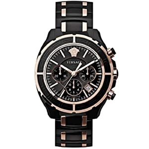 Versace Men's 16CCP9D009 SC09 DV One Swiss Automatic Ceramic Rose Gold Plated Watch