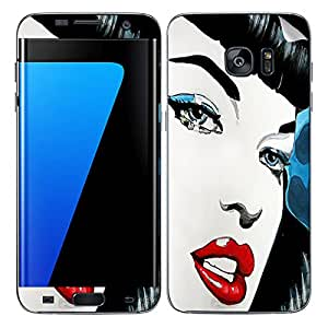 Theskinmantra Red lips SKIN/STICKER/DECAL for Samsung Galaxy S7 Edge