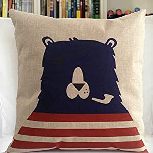 Bear Throw Pillow Covers : Amazon.com: Supers Life Black Bear Animal Pillow Cover 18