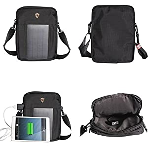 Solar Bag with charging for iPad and other 10in devices This bag uses solar panels which absorbs solar energy and transforms them into electricity which is stored in the in-built battery for usage. It can be used to charge your mobile, MP3 ...