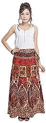Soundarya Women's Cotton Wrap Skirt (6053, Long)