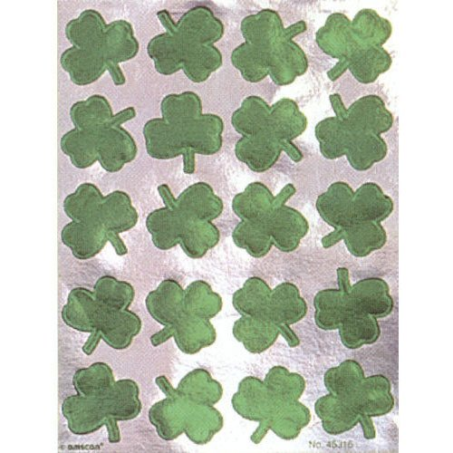 Foil Shamrock Stickers